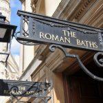 "Sign saying ""The Roman Baths"""